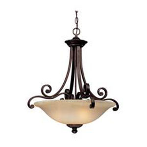 Brittany Deep Bronze Three-Light Pendant
