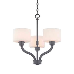 Kalina Warm Bronze Three Light Chandelier