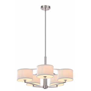 Monaco Five-Light Satin Nickel Chandelier