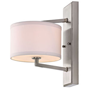 Monaco One-Light Satin Nickel Wall Sconce