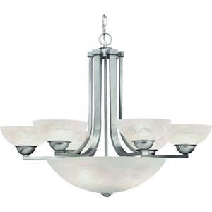 Fireside Satin Nickel Six-Light Chandelier