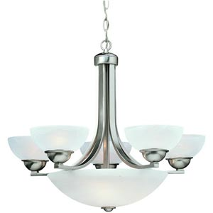 Fireside Satin Nickel Five-Light Chandelier