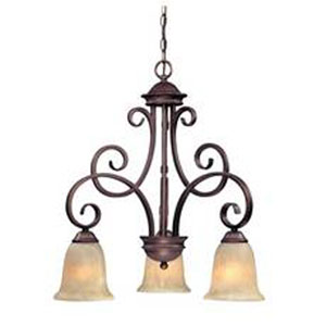Medici English Bronze Three-Light Chandelier
