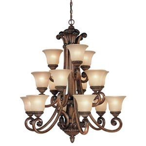Carlyle Canyon Clay Fifteen-Light Chandelier