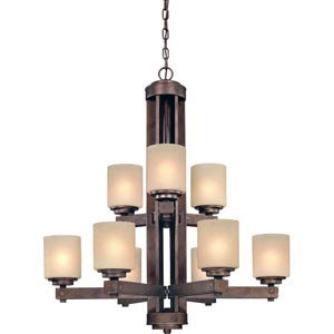 Sherwood Sienna Nine-Light Chandelier