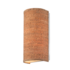 Naturale Natural Cork Two Light Wall Sconce