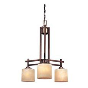 Roxbury English Bronze Three-Light Chandelier