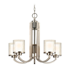 Horizon Five-Light Satin Nickel Chandelier