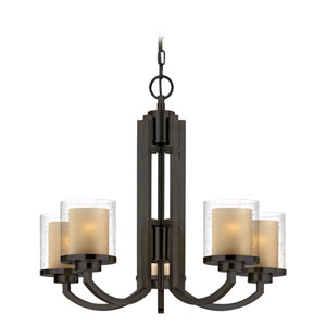 Horizon Five-Light Bolivian Bronze Chandelier
