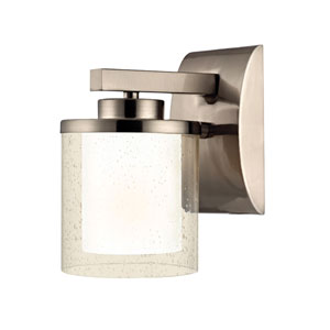 Horizon One-Light Satin Nickel Wall Sconce