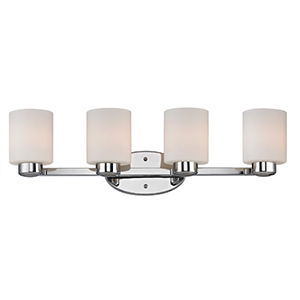 Brookings Chrome Four Light Bath Vanity