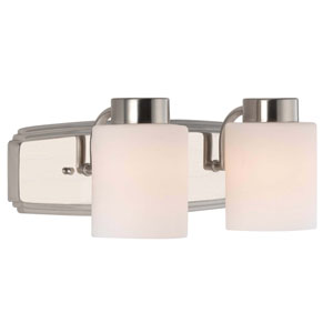 Westport Two-Light Satin Nickel Bath Bar