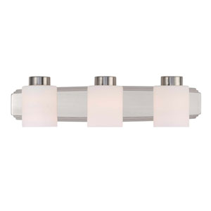 Westport Three-Light Satin Nickel Bath Bar