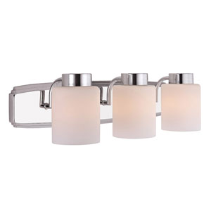 Westport Three-Light Chrome Bath Bar