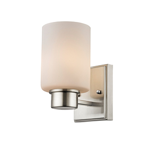 Chloe Satin Nickel One Light Bath Vanity