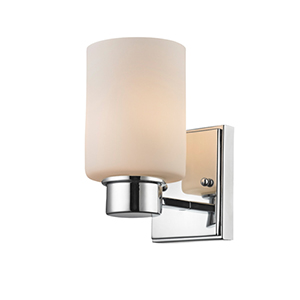 Chloe Chrome One Light Bath Vanity