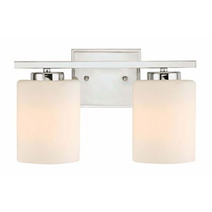 Chloe Two-Light Chrome Bath Bar