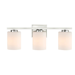 Chloe Three-Light Chrome Bath Bar