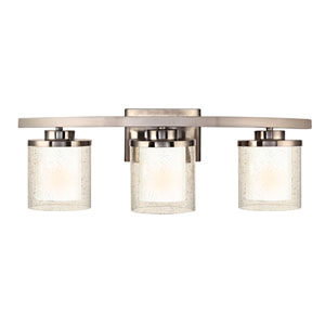 Horizon Three-Light Satin Nickel Bath Fixture