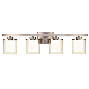 Horizon Four-Light Satin Nickel Bath Fixture