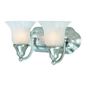 Richland Satin Nickel Two-Light Bath Light