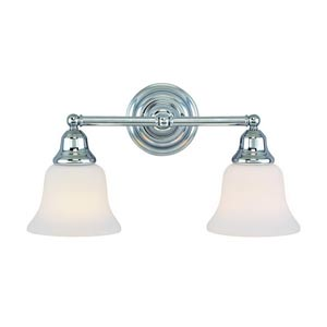 Brockport Chrome Two-Light Bath Light