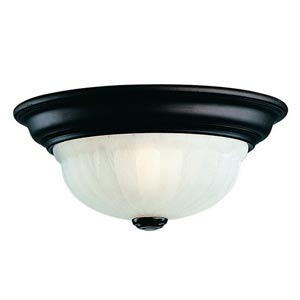 Richland Royal Bronze One-Light Flush Mount