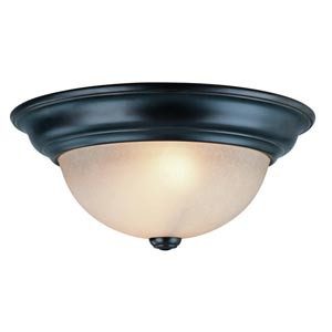 Fireside Bolivian Two-Light Flush Mount