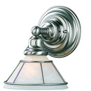 Craftsman Satin Nickel One-Light Wall Sconce