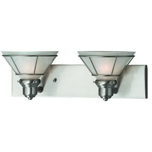 Craftsman Satin Nickel Two-Light Bath Light