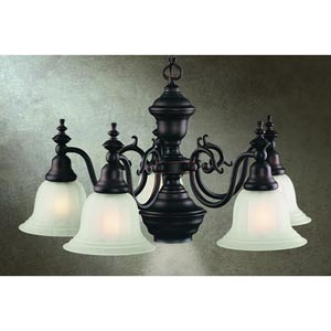 Richland Royal Bronze Five-Light Chandelier