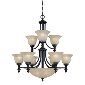 Richland Bolivian Nine-Light Chandelier