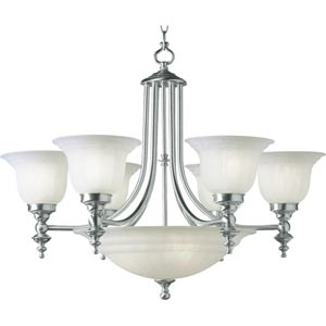 Richland Satin Nickel Six-Light Chandelier