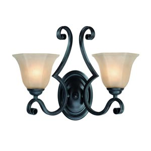 Winston Olde World Iron Two-Light Wall Sconce