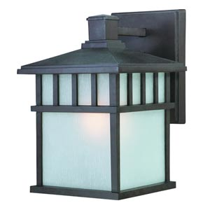Barton Olde World Iron Small One-Light Outdoor Wall Light