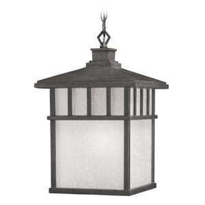 Barton Olde World Iron Large One-Light Outdoor Pendant