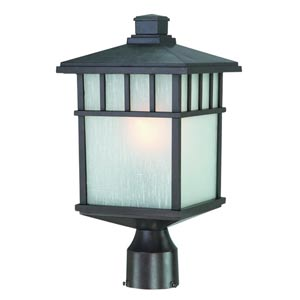 Barton Olde World Iron Small One-Light Outdoor Post Light