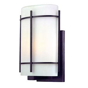 Pacifica Old World Iron Exterior Wall Light - 12.75 Inches