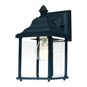 Charleston Black Medium One-Light Outdoor Wall Light