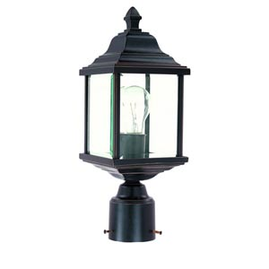 Charleston Antique Bronze One-Light Outdoor Post Light