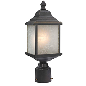Charleston Winchester One Light Exterior Post Mount
