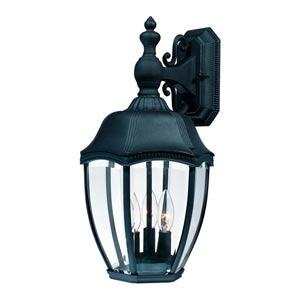 Roseville Black Small One-Light Outdoor Wall Light