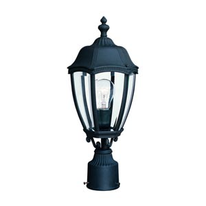 Roseville Black One-Light Outdoor Post Light