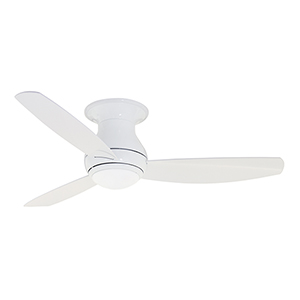 Appliance White 52-Inch Curva Sky LED Indoor and Outdoor Ceiling Fan