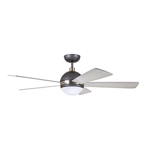 Graphite with Brushed Steel Accents LED Astor Ceiling Fan