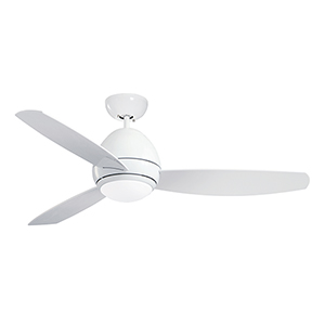 Curva Appliance White 52-Inch LED Indoor and Outdoor Ceiling Fan