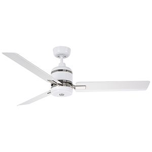 Satin White LED Ideal Eco Ceiling Fan