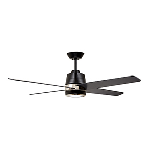 Barbebque Black with Polished Nickel Accents LED Zeke Ceiling Fan