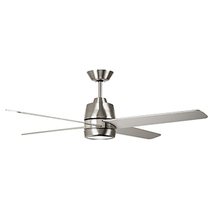Brushed Steel with Polished Nickel Accents LED Zeke Ceiling Fan
