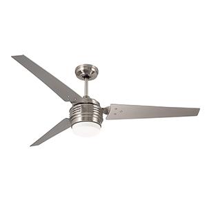 4th Avenue Brushed Steel LED Ceiling Fan